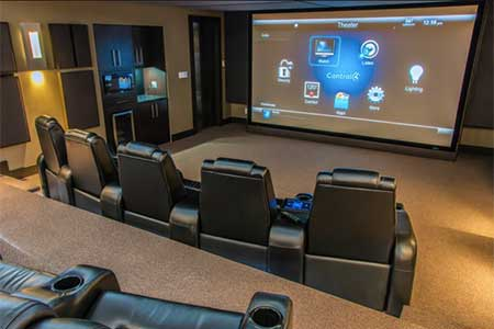 Custom home theater anytime media for Unique home theater